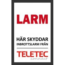 Teletec Klistermärke (47x73mm)
