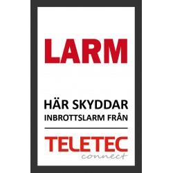 Teletec Klistermärke (65x100mm)