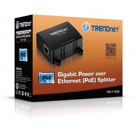 TRENDNET PoE-splitter Gigabit TPE-114GS