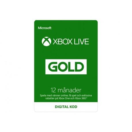 Microsoft Xbox Live Gold (12 månader)
