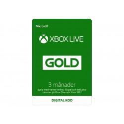 Microsoft Xbox Live Gold (3 månader)