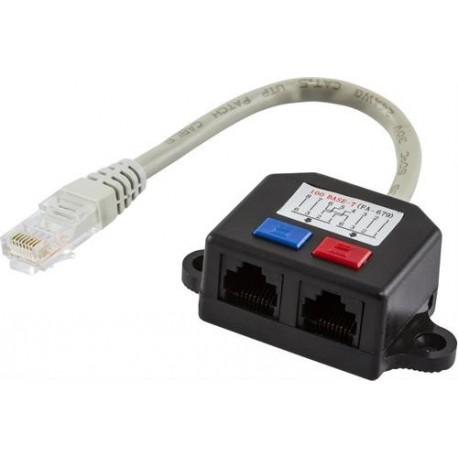 Kabeldelare för CAT5e Deltaco 679-U