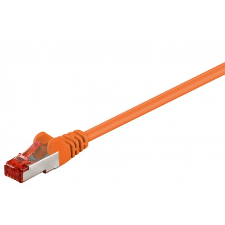 CAT 6a patchkabel 0,5m (Orange, PiMF, LSZH)