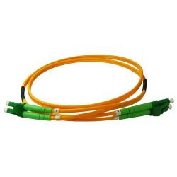 Fiberoptisk patchkabel 1m LC/APC-LC/APC (SM, Duplex)
