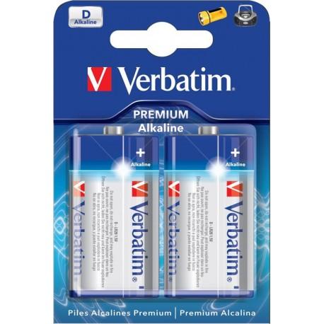 Verbatim 2-pack D-batterier (LR20)