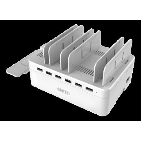 Unitek Y-2181 60W USB-laddningsstation