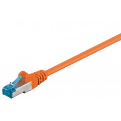 CAT 6a patchkabel 1m (Orange, PiMF, LSZH)