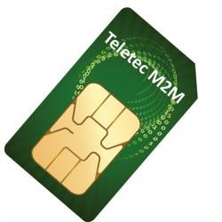 SIM-kort M2M larm IP 1 år (Teletec)