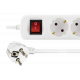 Grenuttag med strömbrytare (6xCEE 7/4, 2xUSB)
