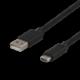 DELTACO USB 2 0 tygbeklädd USB C ha til