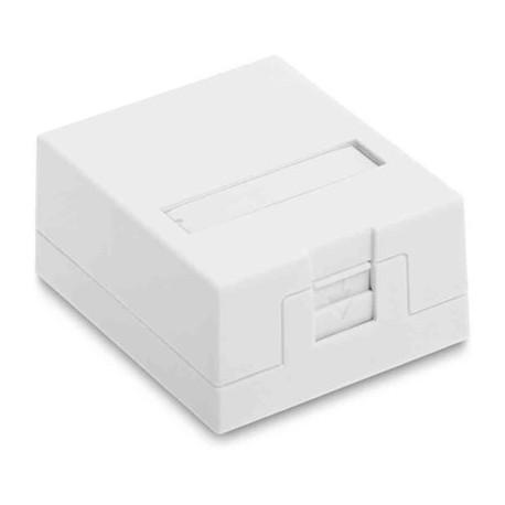 Uttagsbox för 1 st Keystone, Vit, Eurolan