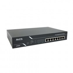 ALFA Networks Switch med 802.3at PoE (Gigabit, 8 portar, 150W)