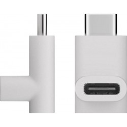 USB-C to USB-C Angle Adapter (White)