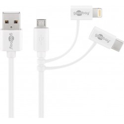 3-in-1 combo USB-cable (1 m)