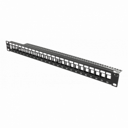 """19"""" patchpanel, 24 portar"""