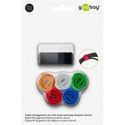 Buntband 17 x 2 cm (6-pack, Kardborreband, färg)
