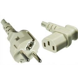 Power cord Europe CEE 7/7 to C13, 0.75mm², 1.8m