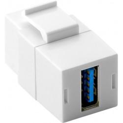 KeyStone USB module 18.3 mm width, 2 USB 3.0 female (Type A)