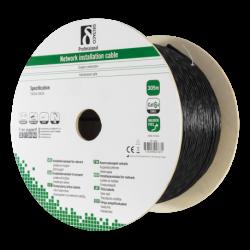 Cat 6A installationskabel för utomhusbruk U/FTP svart (löpmeter)