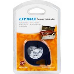 DYMO LetraTag Plasttejp Metallic Silver (12 mm x 4 m)