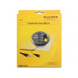 Delock Skrivbordshubb USB 3.0 4 portar
