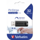 Verbatim 8GB PinStripe USB Flash Drive - Black