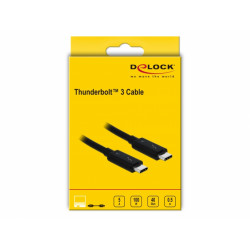 Delock Thunderbolt™ 3 (40 Gb/s) USB-C™ cable male to male passive 0.5 m 5 A black