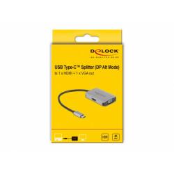 Delock USB Type-C™ Splitter (DP Alt Mode) to 1 x HDMI + 1 x VGA out