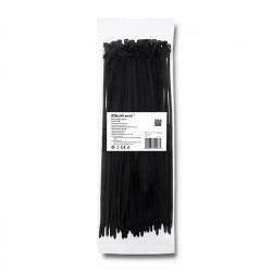 Qoltec Self-locking cable tie 4.8x350mm, Nylon UV, Black