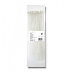 Qoltec Self-locking cable tie 4.8x200mm, Nylon UV, White