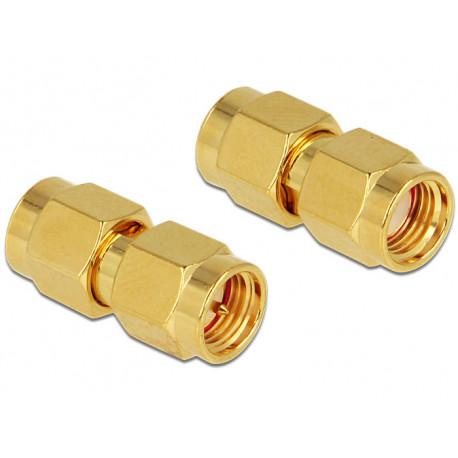 Delock Adapter RP-SMA Plug to SMA Plug