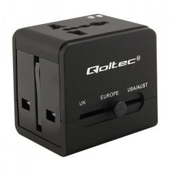 Reseadapter med 2 x USB, 2.1A