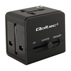 Universal travel adapter with  2 x USB